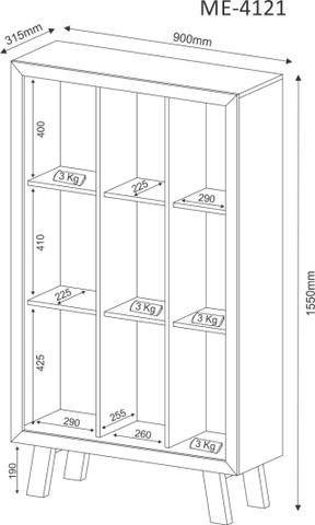 Estante 9 nichos - HyperBuy - Produto Novo - Foto 5