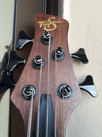 Bass Tagima Century 5(Brasil)c/ capt Bass Line parcelo cartão/ML valio troca - Foto 6