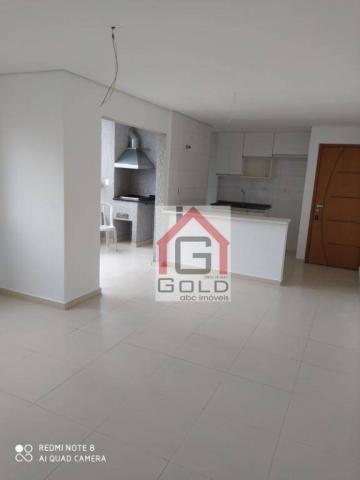 Apartamento com 3 dormitórios para alugar, 88 m² por R$ 2.000,00/mês - Campestre - Santo A