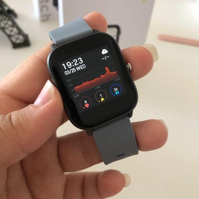 Smartwatch Colmi P8 Pulseira de Silicone Cinza Compatível com IPhone e iOS - Foto 6