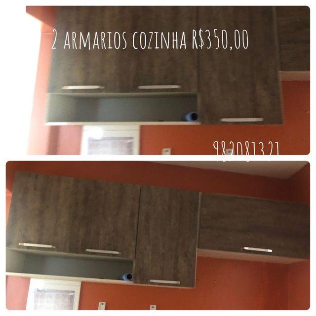 Guarda roupa três portas , estante , colchão beliche armário de cozinha  - Foto 5