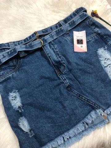 Saia Jeans +short jeans - Foto 2