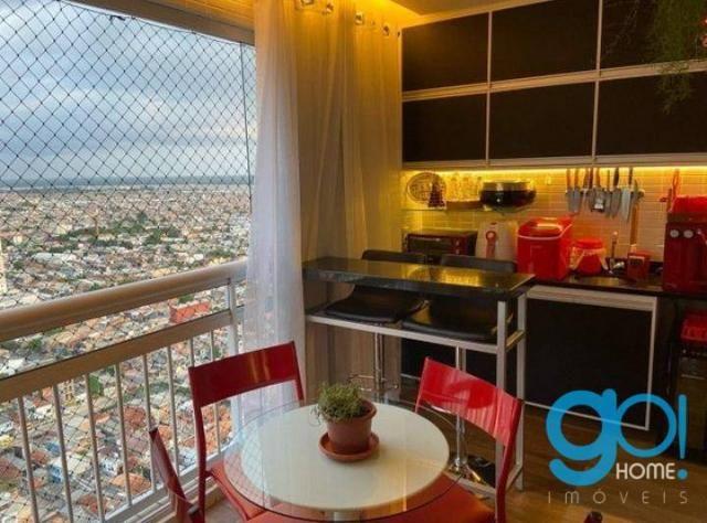 Apartamento com 3 dormitórios à venda, 78 m² por R$ 550.000 - Cremação - Belém/PA - Foto 4