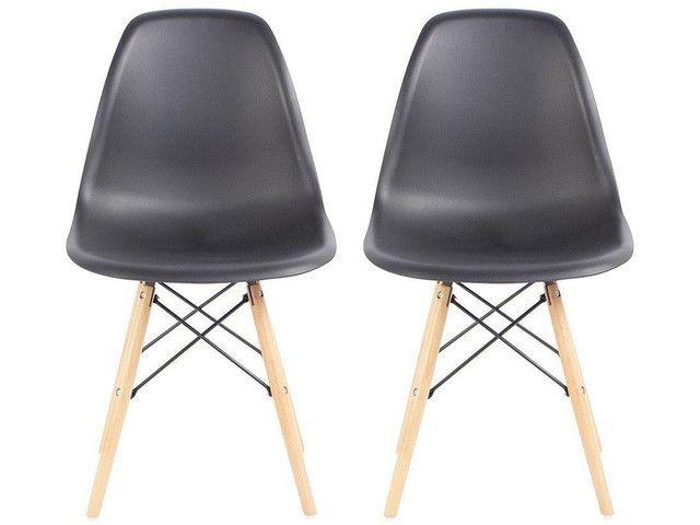 Jogo de Cadeiras Pé Palito Assento Nell - Foto 2