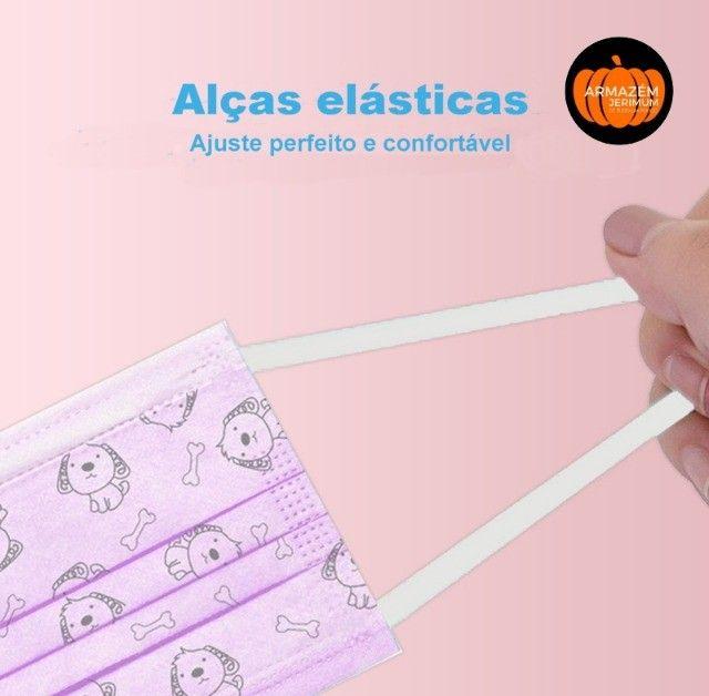 Máscara Descartável Infantil Tripla C/clip Nasal E Desenho - Foto 4