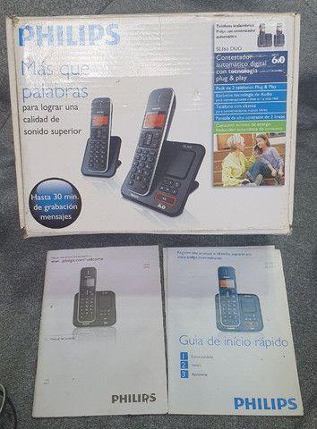 Telefone sem fio Philips com secretária eletrônica (base e+1 ramal) - Foto 2