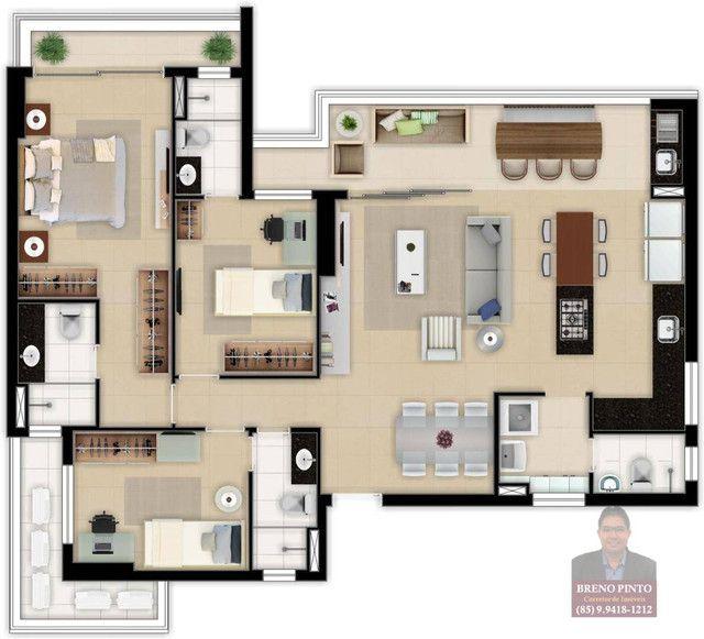 Apartamento no Tribeca com 3 dormitórios à venda, 119 m² por R$ 1.139.260 - Aldeota - Fort - Foto 17