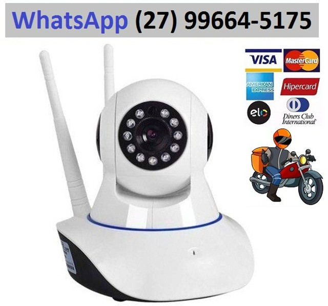 Babá Eletrônica Câmera Video monitoramento Wifi Visão Noturna Microfone S/ Fio