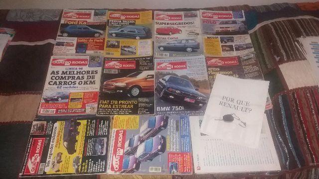 Lote com 11 Revistas Quatro Rodas 425,427,431,433,434,435,436,437,439,441,448