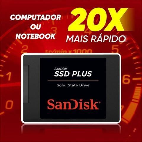 Garantia 6 Meses* 240gb Lacrado 530 Mb/s G26 Sata 3 Hd Ssd Sandisk Plus - Foto 5