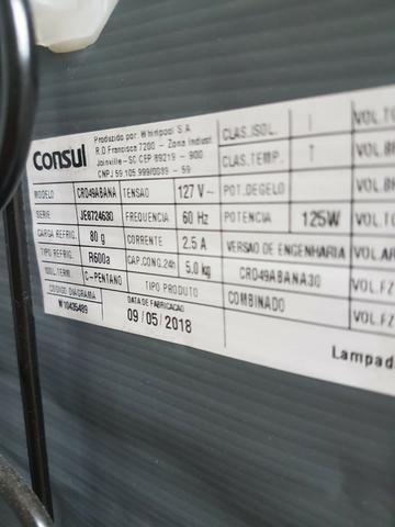 44657e3f1 Geladeira Consul Cycle Defrost Duplex 450 litros Branca com Prateleiras de  Vidro