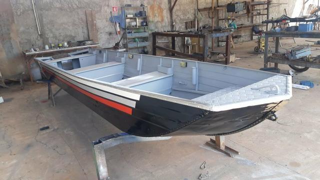 Barco com motor e carretinha - Foto 2