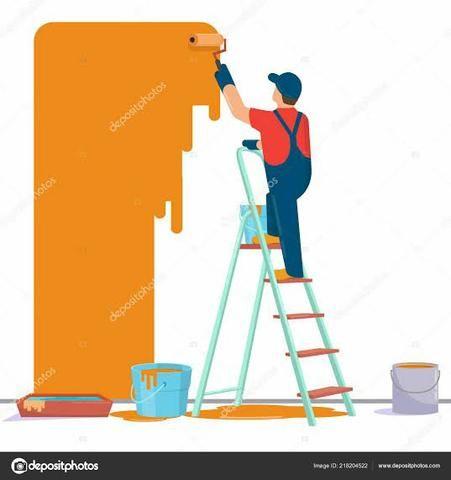 Pintor de parede profissional