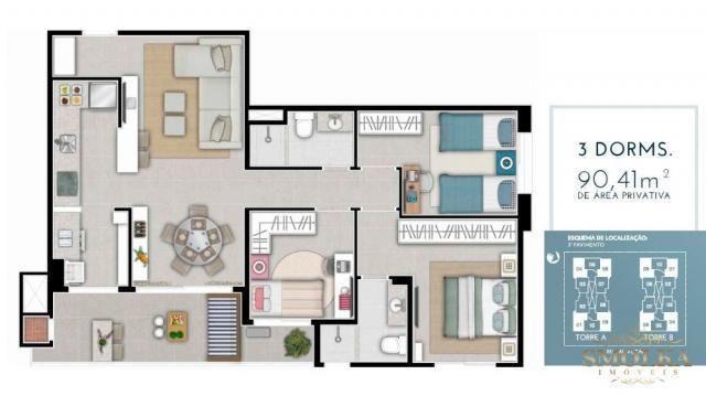 Apartamento à venda com 3 dormitórios em Monte verde, Florianópolis cod:9338 - Foto 5
