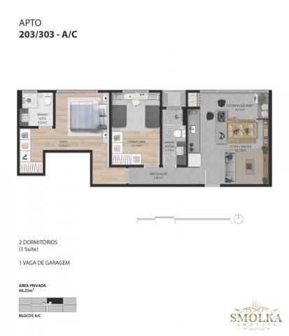 Apartamento à venda com 2 dormitórios em Ingleses do rio vermelho, Florianópolis cod:9021 - Foto 9