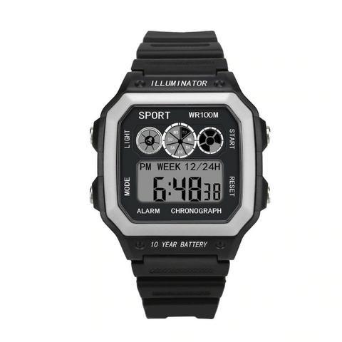 Relógio Illuminator Digital Esporte Militar LED