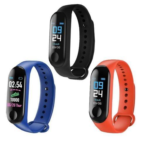 Relógio Smartwhatch Inteligente M3 Bluetooth Android celular - Foto 4