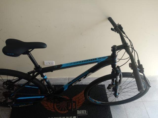 Bicicleta Aro 29 Freio Hidraulico Suspensão c\ Trava 10X S\ Juros