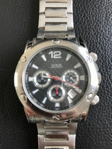 fc159d91af3 Relógio de Pulso Guess WaterPro Masculino Prata Original - U15035G2 ...