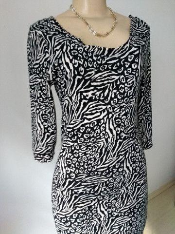 Vestido de malha, animal print - Foto 4