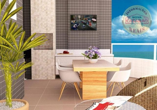 Apartamento com 1 dormitório à venda, 46 m² por R$ 232.000 - Vila Caiçara - Praia Grande - Foto 2