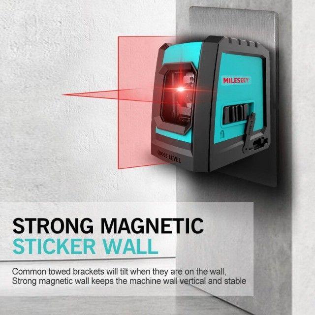 Nível A Laser Vermelho Com Bateria Recarregável + Tripé Bolsa - Foto 6