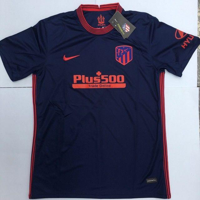 Pronta entrega Camisa atlético de madrid malha tailandêsa
