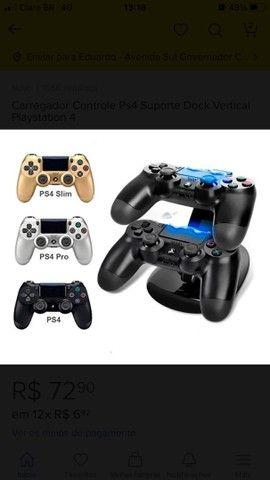 Carregador Controle Ps4  Suporte Dock Vertical PlayStation 4 - Foto 6