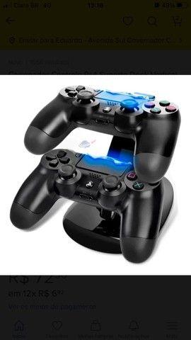 Carregador Controle Ps4  Suporte Dock Vertical PlayStation 4 - Foto 3