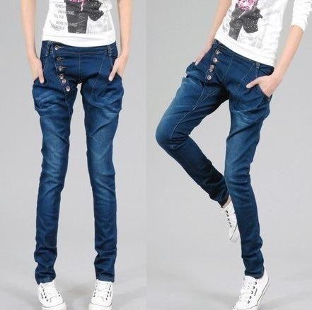 51abf8623 Calça Jeans Saruel Azul Desbotado Cintura Média - Tamanho 38 Usada ...