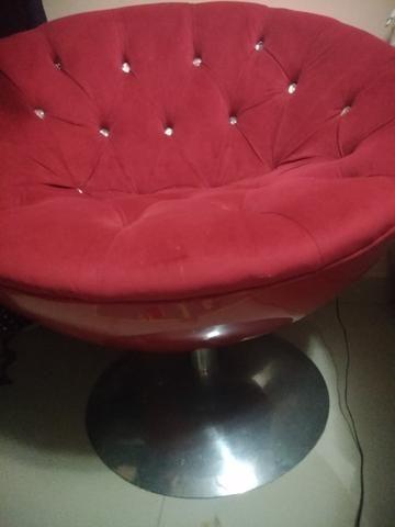 Poltrona de luxo vermelha Décor nova