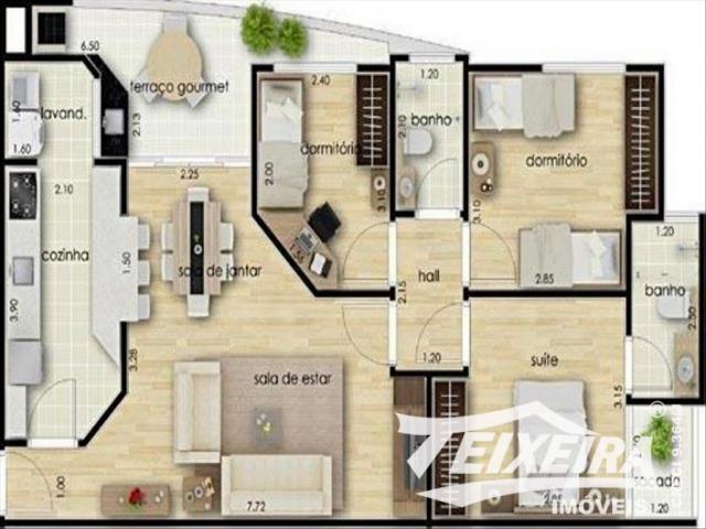 Apartamento à venda com 03 dormitórios em Residencial amazonas, Franca cod:2868