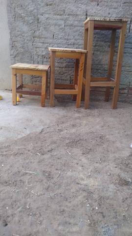 Banquinhos de madeira - Foto 5