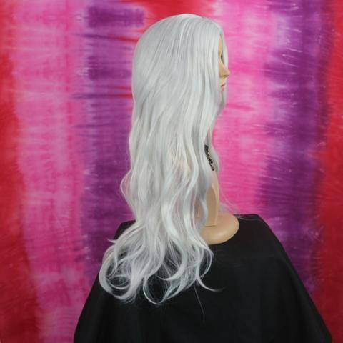 Peruca Wig Fibra Orgânica Branca - Foto 5
