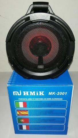 Caixa De Som Portatil Bluetooth Mp3 Fm Pc Micro - Mk2001 - Foto 6