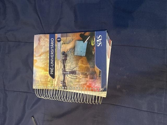 Livros didáticos do SAS , um dos melhores do Brasil
