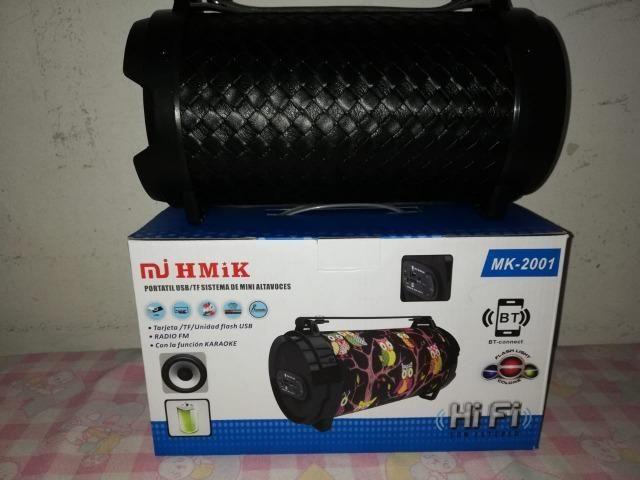 Caixa De Som Portatil Bluetooth Mp3 Fm Pc Micro - Mk2001 - Foto 5