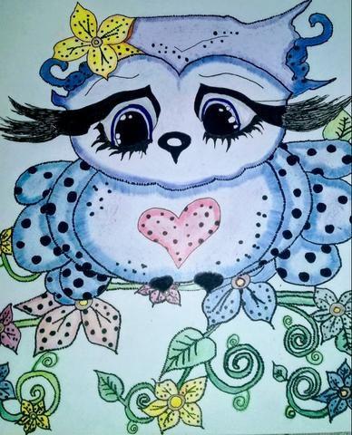 Desenho de uma coruja