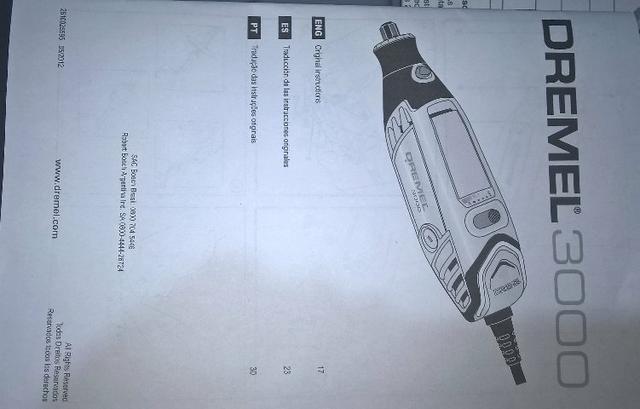 Micro retifica Dremel 3000 26 acessórios - Foto 5