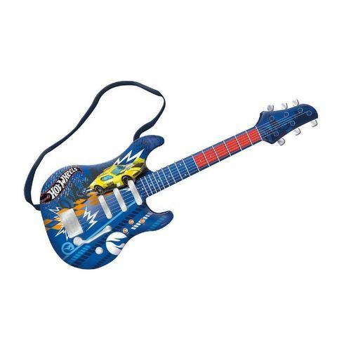 Guitarra Infantil Hot Wheels Azul Fun 8422-4 - Foto 3