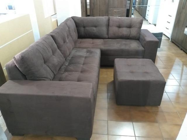 Sofa de canto super espaçoso 2.60x2.00 puff incluso/ 1299 nos cartoes - Foto 5