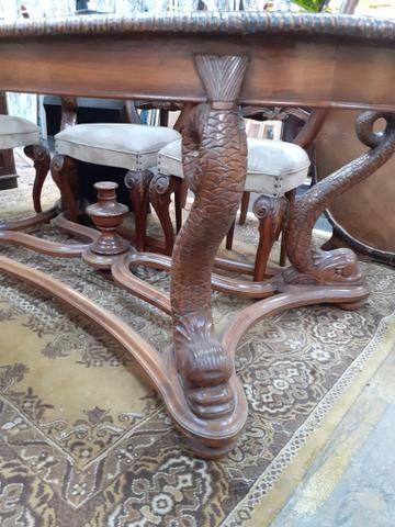 MESA ANTIGA EM CEREJEIRA COM 6 CADEIRAS Mercado das Pulgas *10X parc. - Foto 3