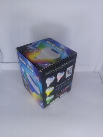 Lâmpada LED com Alto Falante Bluetooth + Controle Remoto - Foto 4