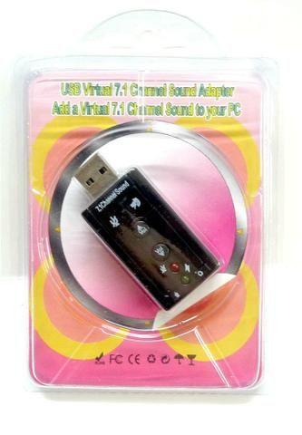 Placa de som USB. Adaptador de fone de ouvido (Áudio Micro) - Foto 3