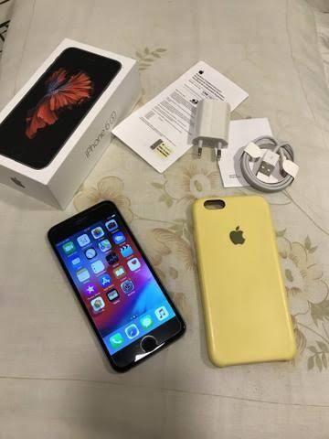 IPhone 6s 64gb com caixa e nota paguei 1500 nele novo sou único dono ! - Foto 6