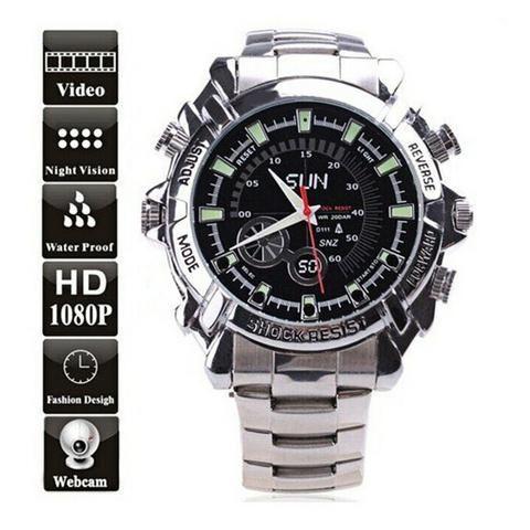 85f9d54ec06 Relógio espião HD com visão noturna - Áudio