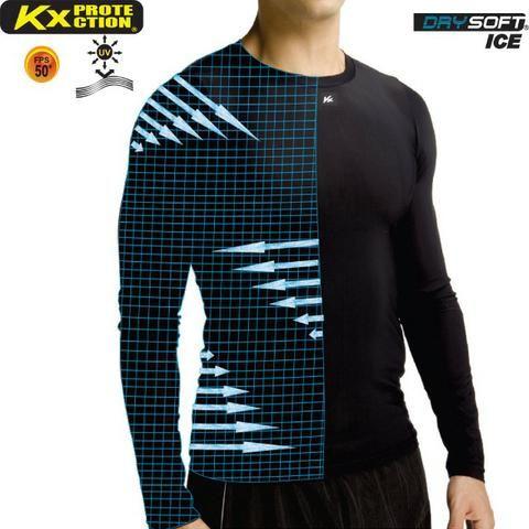 Camisa Térmica Kanxa Alta Compressão UV 50 Manga Longa - Esportes e ... 67f9026256c2e