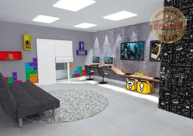 Apartamento com 1 dormitório à venda, 46 m² por R$ 232.000 - Vila Caiçara - Praia Grande - Foto 6