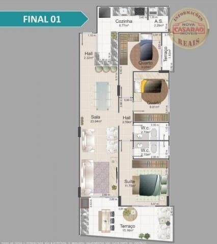 Apartamento com 1 dormitório à venda, 42 m² por R$ 212.150,00 - Balneário Flórida - Foto 6