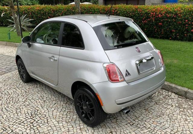 Fiat 500 cult 2012 mecânico flex prata 2020 pago oportunidade - Foto 4